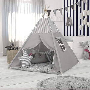 Grijs Kids Baby Indoor Poppenhuis Speelgoed Tenten Outdoor Play Indian Tepee Tenten Kinderen Hoge Indian Teepee Tent