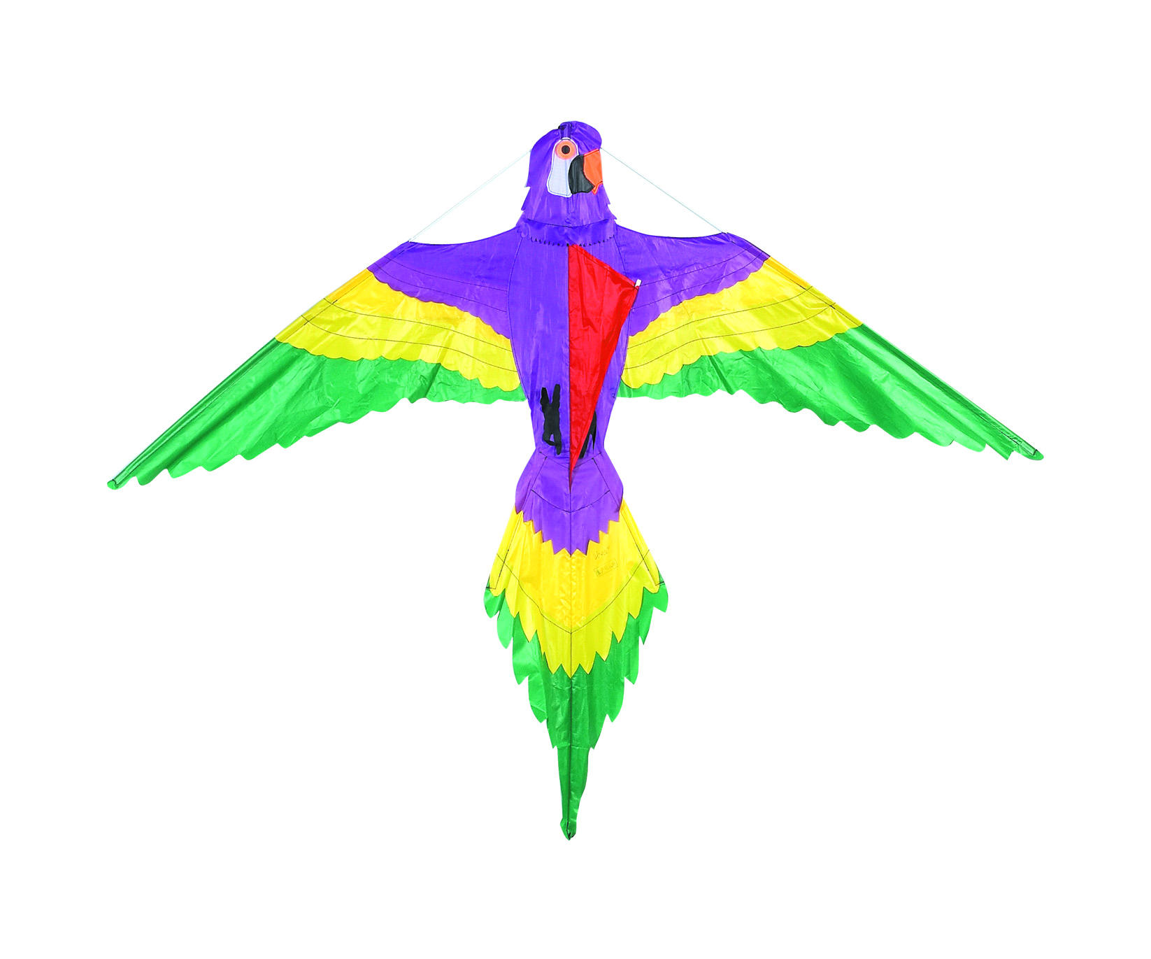 Hot Selling Popular Design Multi-colors Applique Delta Parrot Kite