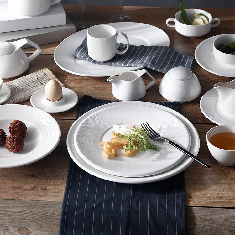 factory hot sale round white side plates set porcelain small side dish plate for restaurant