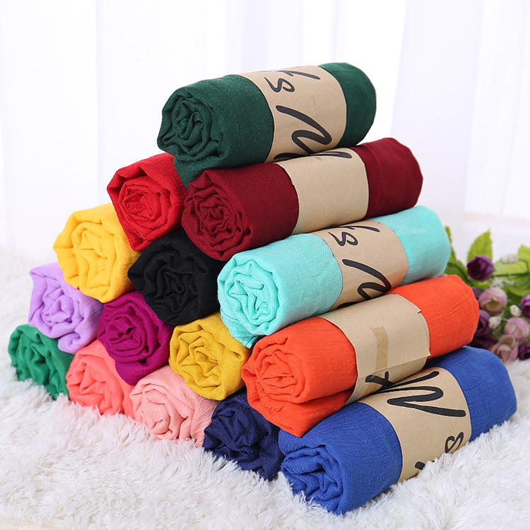 Wholesale Custom Cotton Plain Hijab Scarf Soft Muslim scarves