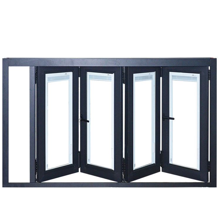 Australian America Frameless Aluminium Glazing Ventilation Bifold Folding Windows Balcony Bifold Window