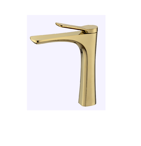 Brass high basin Gold Dragon Head Hotel Art basin faucet single handle basin faucet Golden bathroom faucet
