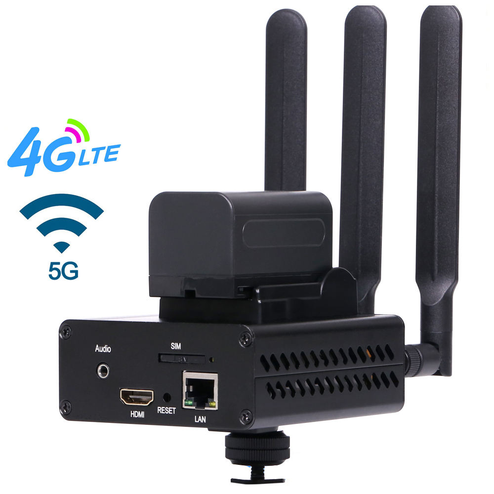 4G LTE HDMI Video Encoder for Live Stream on YouTube, Facebook, Twitter HDMI Video over IP / 4G SIM to Internet