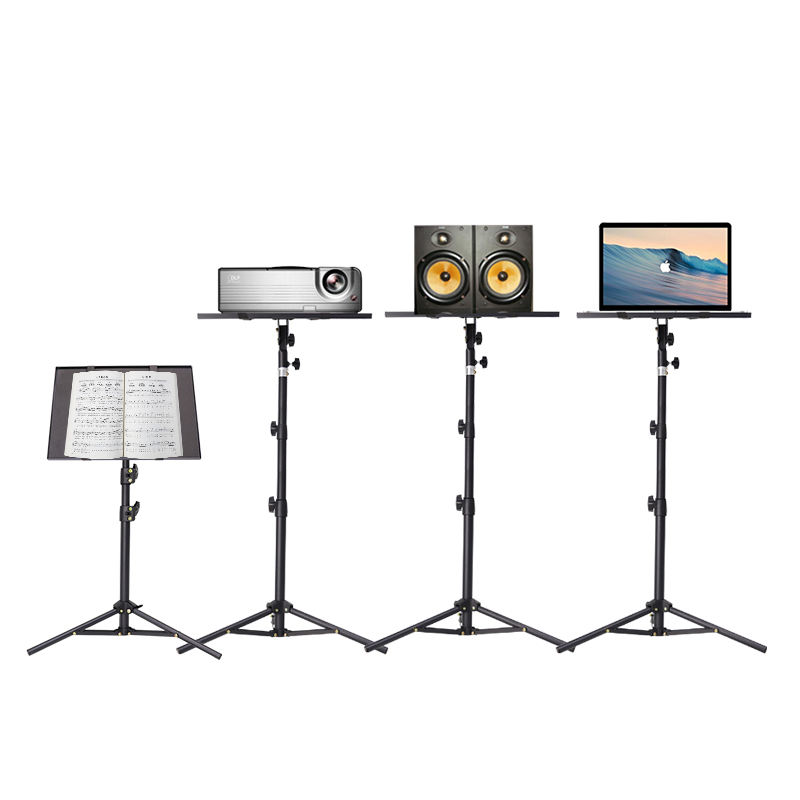 Wholesale Portable Little Music Stand Instrument Adjustable Folding Music Book Stand Customized Metal OEM Logo