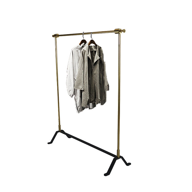Clothing Store Display Gold Clothes Rack for Shop Showroom Display Stands