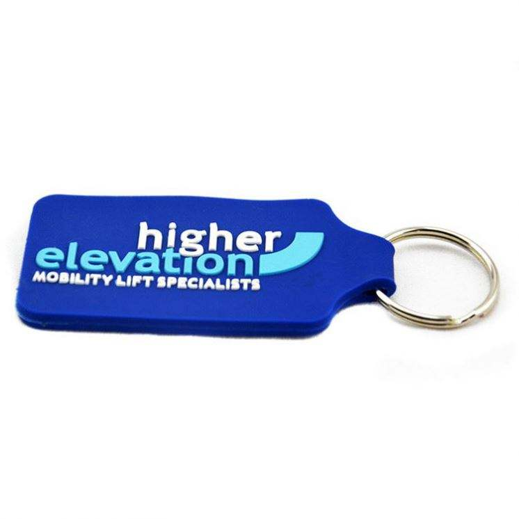 Eco-friendly cheap no minimum custom 2d 3d custom shaped words print epoxy soft pvc keychain