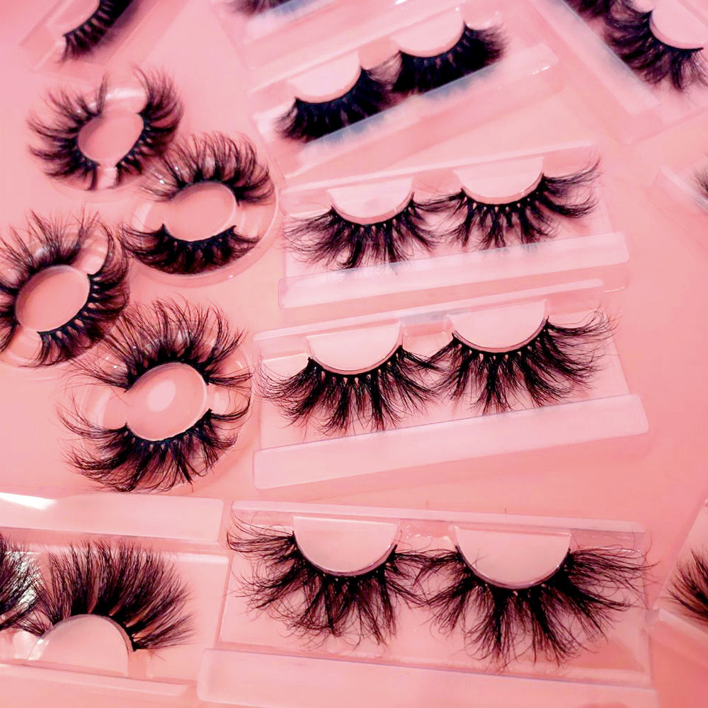 Real luxury Mink lashes Vendor Custom Packaging False Eyelash Fluffy 25MM 3D 5D Mink Eyelashes Vendor