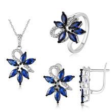 Hot Sale 2020 Fashion Jewelry ,Sapphire 925 Silver Women Fine Jewelry