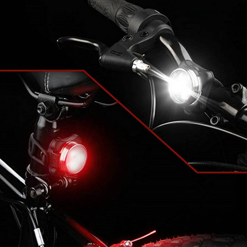 LED Bicycle Light 3LED 4 Mode Lighting USB Rechargeable bike Taillight Headlight Car Night light