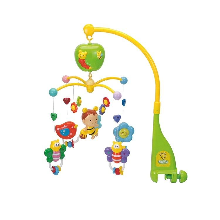 Colorful Infant Musical Hanging Rattle Baby Crib Spin Bed Bell Toy