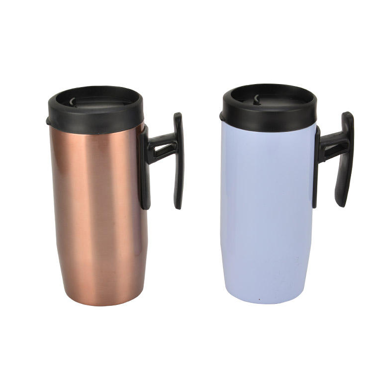 Double-walled 304 Stainless Steel Milk Coffee Tea Drinkware Handgrip Handle Sublimation Blanks Vacuum Cup