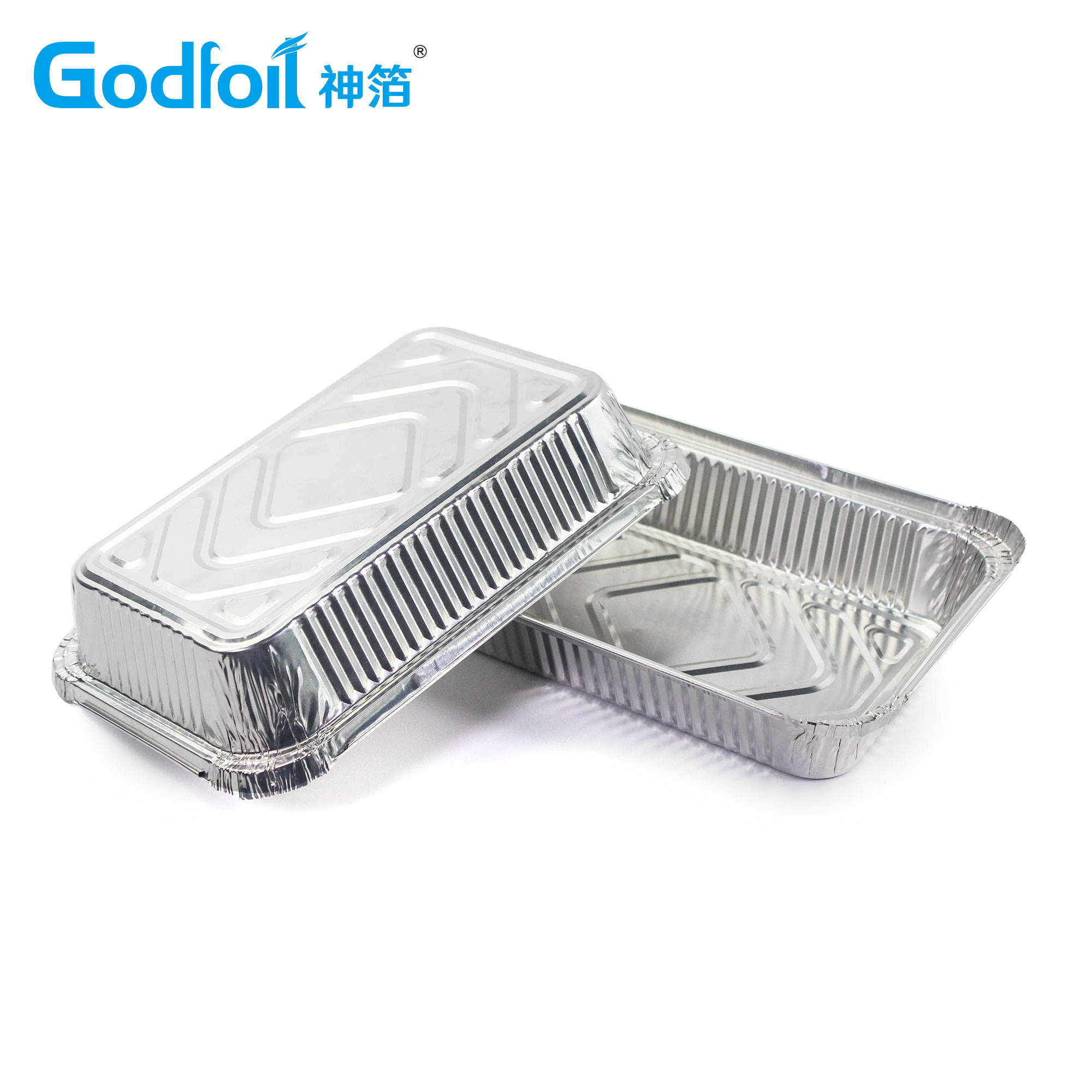 Oblong Heavy Duty Disposable Aluminum Foil Container Aluminum Foil Tray For Daily Use