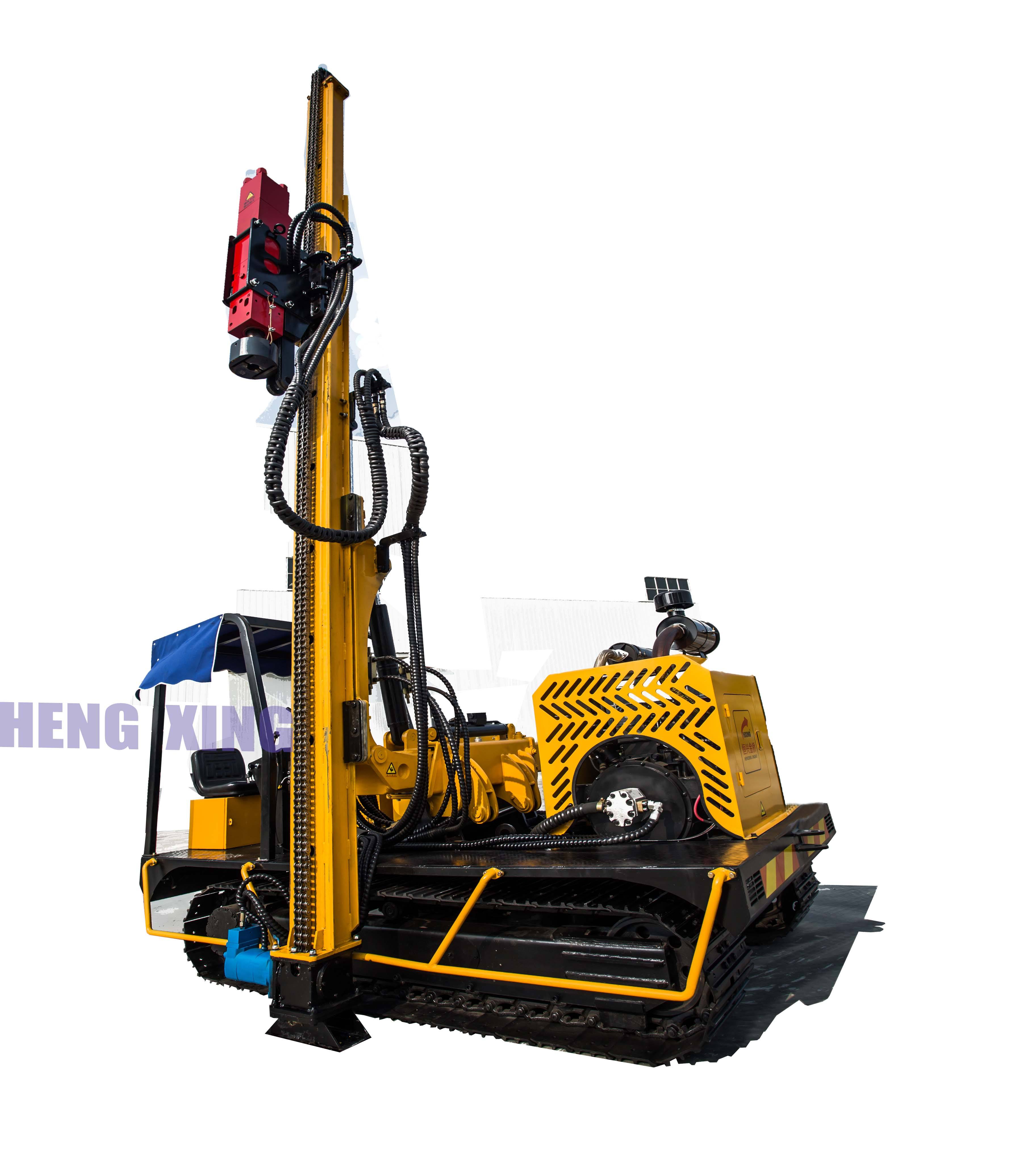 Solar ground screw post install drill rigs pile driver