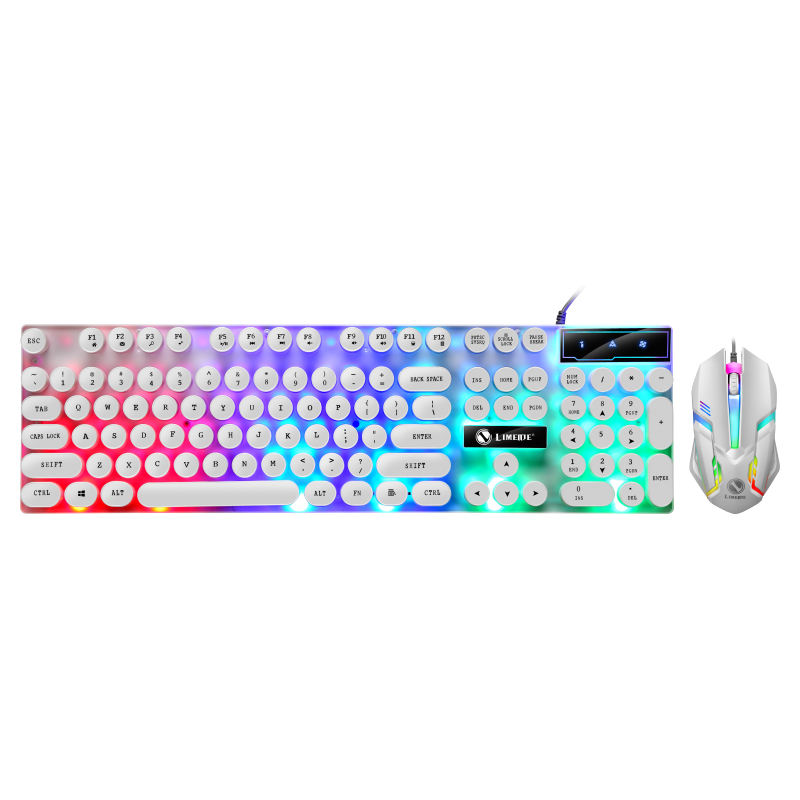 Amazon Best Price GTX300 Led Breath Light Gaming Mouse and Keyboard Rainbow light Waterproof Game Keyboard GTX300