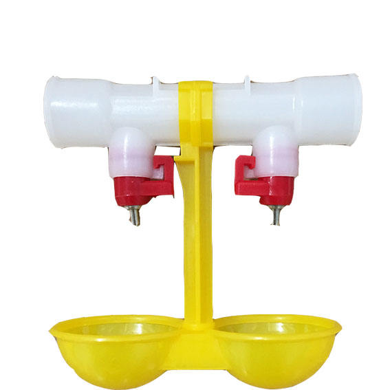 chicken farm automatic poultry water drinker with double cup G3/4'' tube