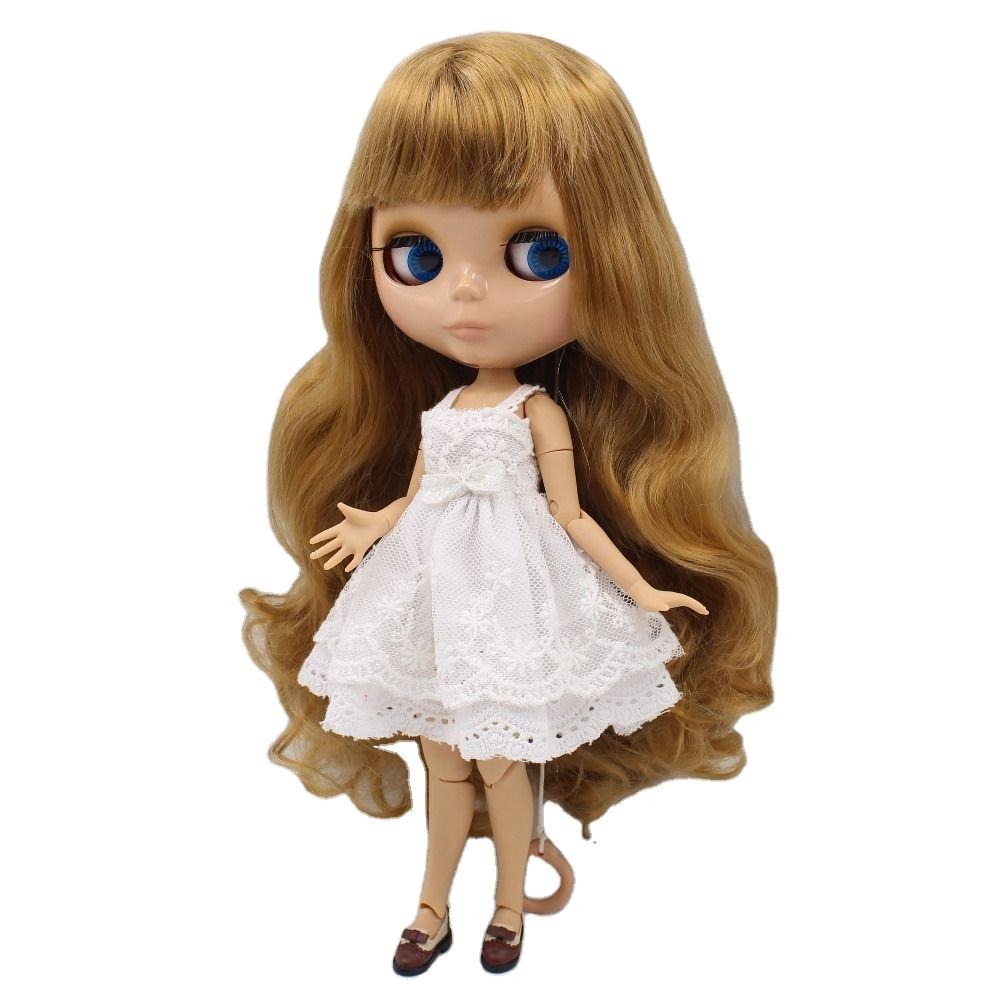 Chinese Custom Doll 10 Inch 19 Ball Joints Doll with Movable Flexible Body, Blythe Dolls with color long hair