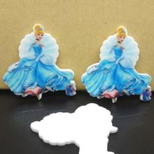 35*36mm Resin crafts Princess Cartoon Planar Resin Flatback Resins cabochons character for Bow center50pcs 34*32mm