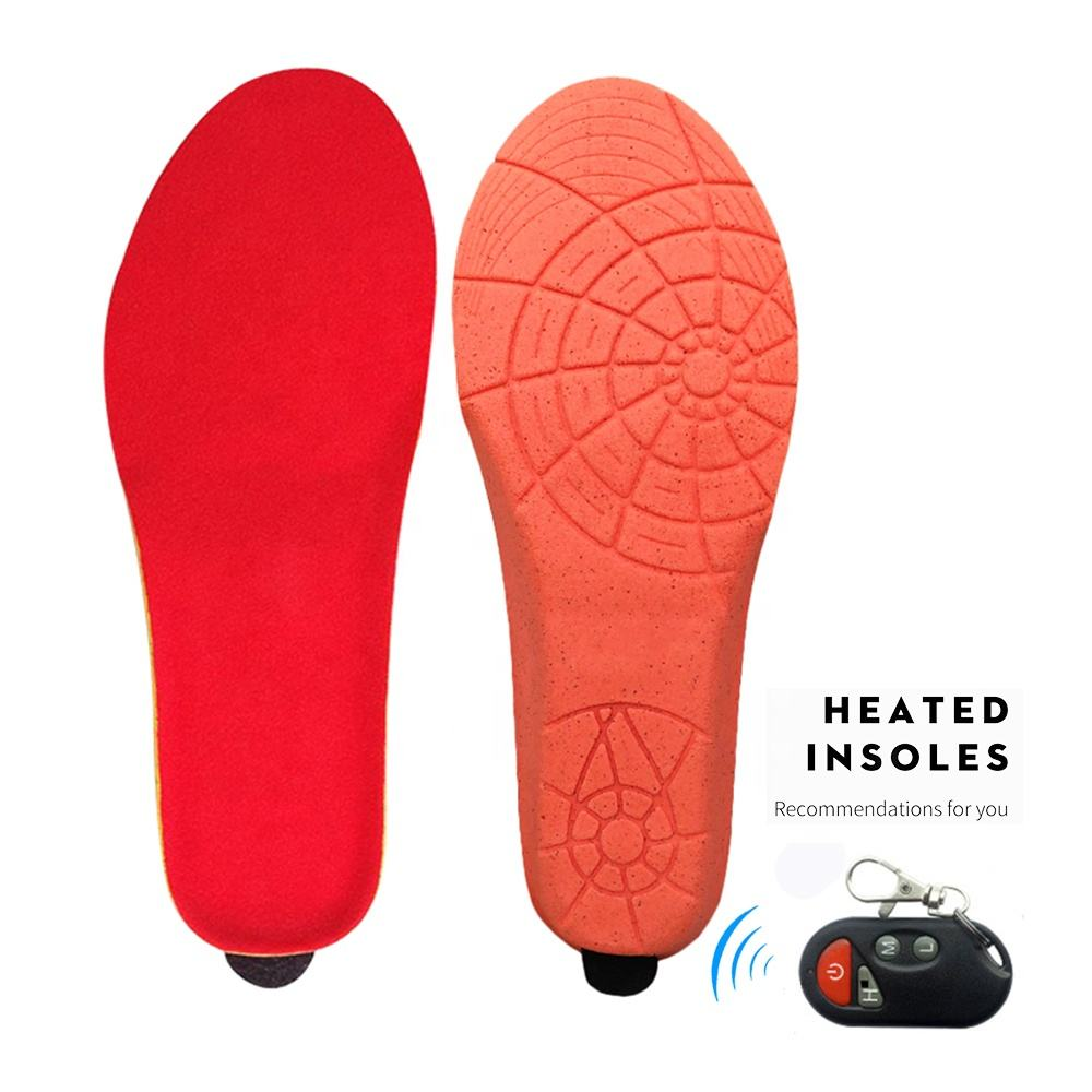 Electric Heating Insoles Winter w/ Remote Control Rechargeable Women Men Shoes Boots Heated Insoles for Outdoor Skiing Cycling