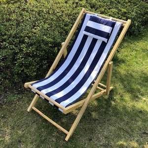 Nueva venta caliente de madera plegable promocional cubierta al aire libre de madera plegable Silla de playa sedia spiaggia legno sedie sdraio