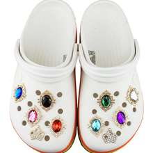 Wholesale shoes jibbitz crystal shoe charms for croc shoes decoration Rhinestones jibbitz for shoe ornament bling charms jibbitz
