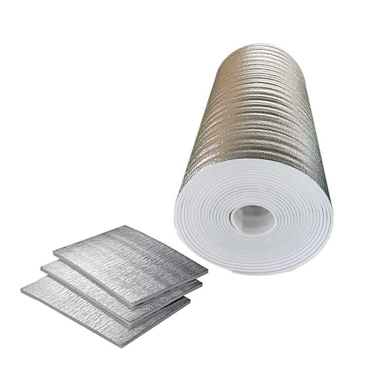 Flexible thermal heat reflective insulation sheets waterproof insulation material,thin EPE foam insulation aluminum sheet