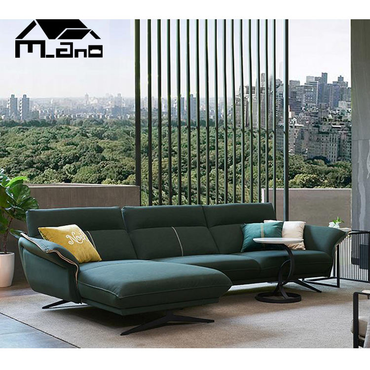modern living room furniture indoor chaise lounge l shape sofa