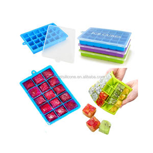 24 Grid Silicone Ice Cube Tray DIY Desert Cocktail Square Shape Juice Maker Fruit Ice Molds