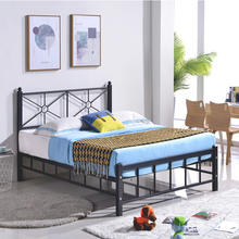 Modern design folding metal king size hotel double loft single bed frame room furniture with storage bedroom for adult sale