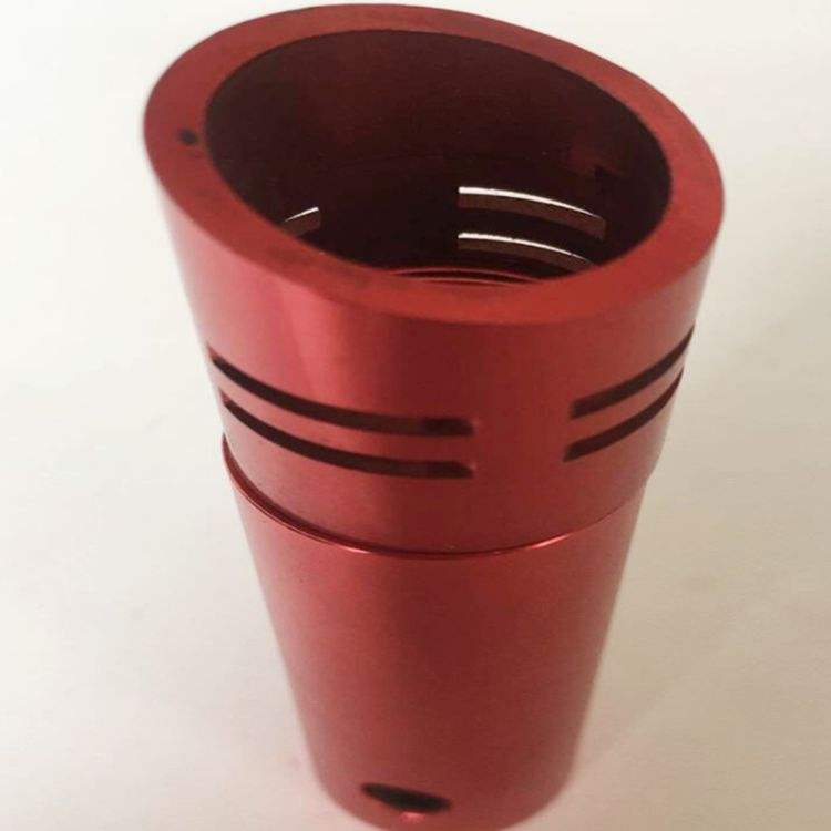 High-end Quality Colorful Anodized perforated threaded bended CNC machined aluminium tube