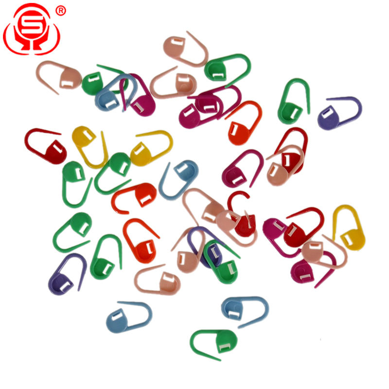 Best-selling 1000pcs Assorted Color Locking Stitch Markers Knitting Crochet Stitch Needle Clips
