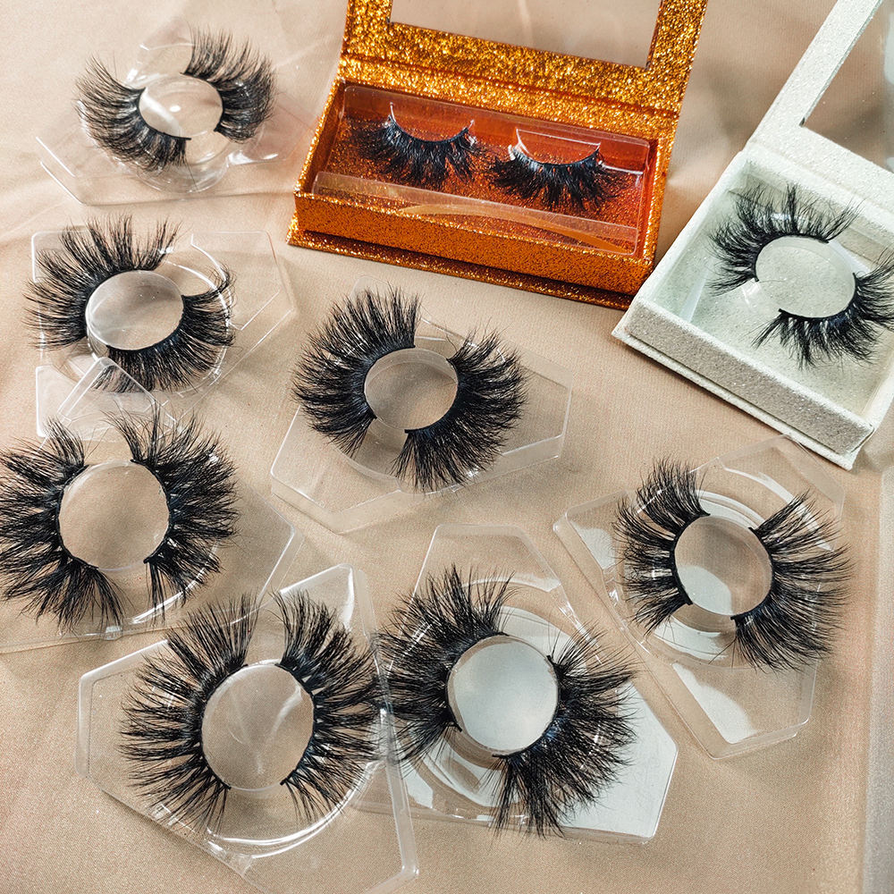 Wholesale 3D Mink Magnetic eyelashes, Hot Sale 5 magnets magnetic false eyelashes, 6D 5D 3D 25mm Faux Mink Eyelash extensions