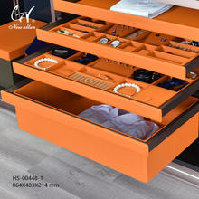 High end household clothes organizer cabinet storage box custom clothing store display cabinet
