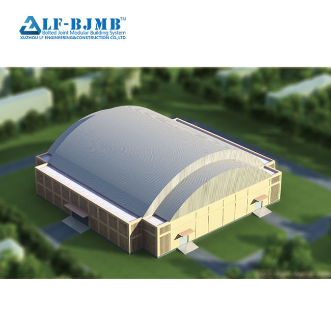 Prefab space frame roof of steel structure stadium steel truss stadium gym system building