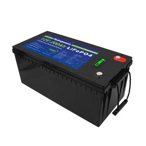 Yabopower Deep Cycle 12V /24V /36V /48V 200Ah Solar Opslag Ups 12V liFePO4 Lithium Opslag Batterijen Voor Golf Cart