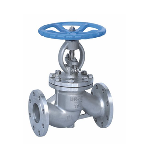 DIN stainless steel bellowes sealed globe valve with electric actuator