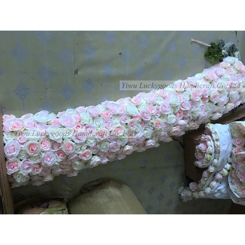 LFB852 luxury artificial white pink rose silk mandap flower in 1.8m length event floral garland