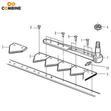 Combine machine Cutter Bar assembly replacement parts knife section