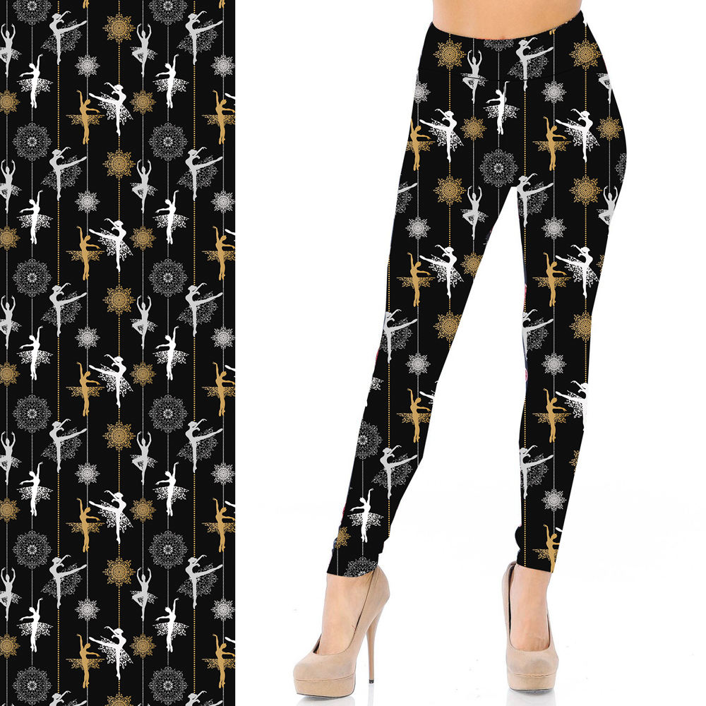Yoga Band High Waist Tight Pants 92 Polyester 8 Spandex Super Soft Buttery Custom Ballet Dancing Girls Prints Leggings Wholesale