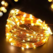 flash sale 10m Solar Powered LED Copper Wire String Fairy Lights