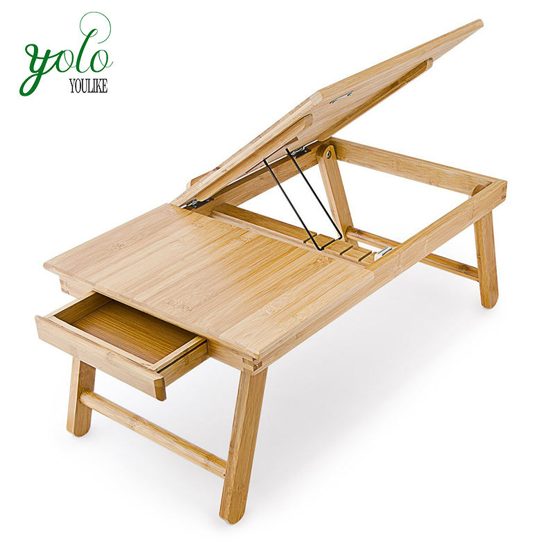 Foldable Bamboo Wood Bed Tray Laptop Desk