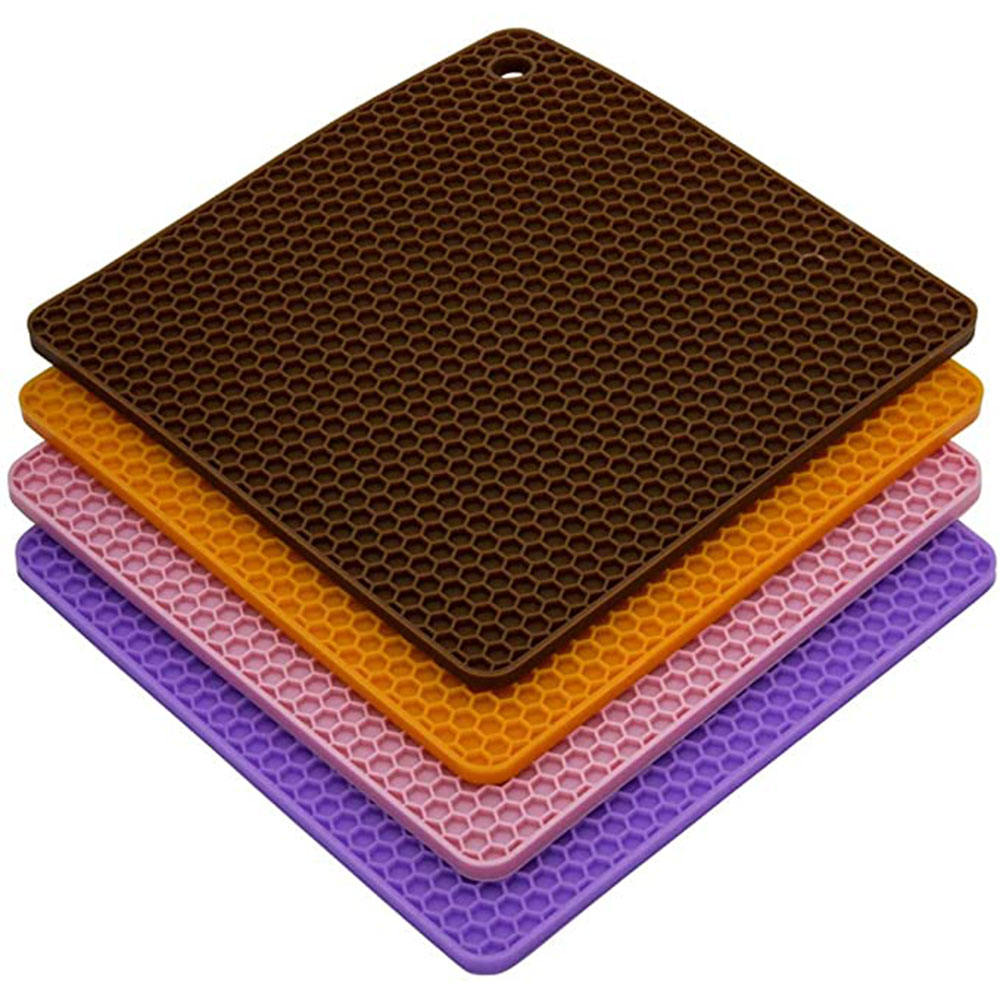 Silicone Trivet Pot Mat for Countertop Trivest Pads Heat Resistant Table Placemats