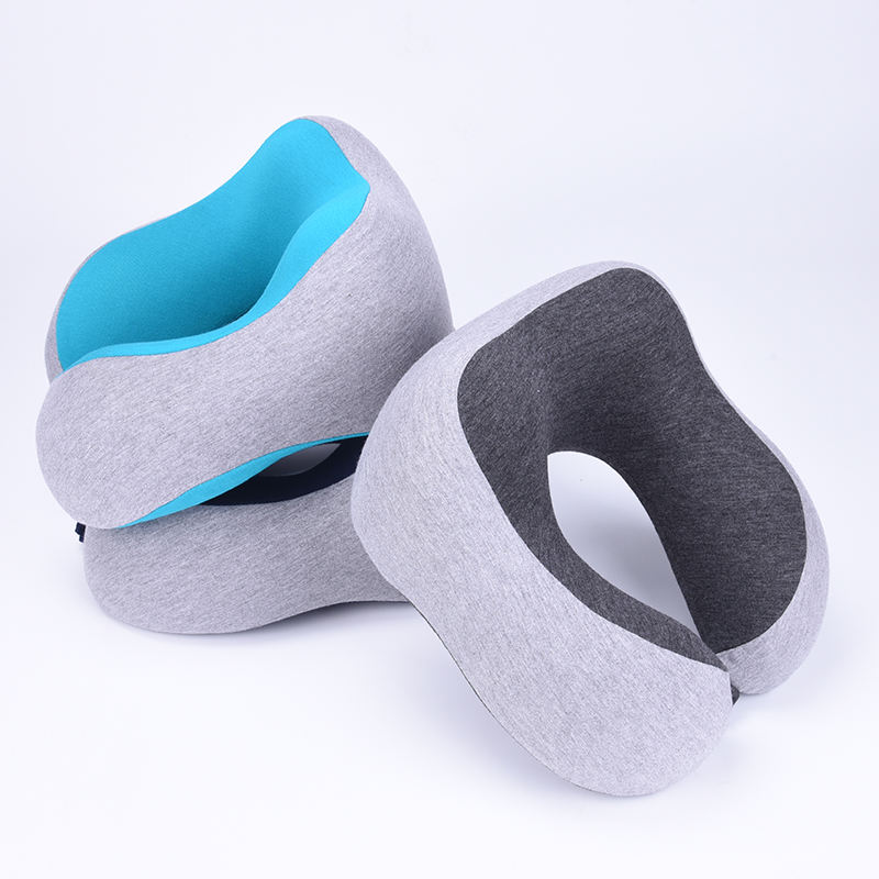 Wholesale Neck Rest Support Cotton Fabric Travel Memory Foam neck pillow