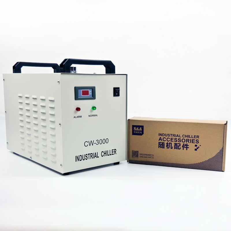 Instock water-cooled CW3000 Water Chiller For Laser cutting and engraving Machine