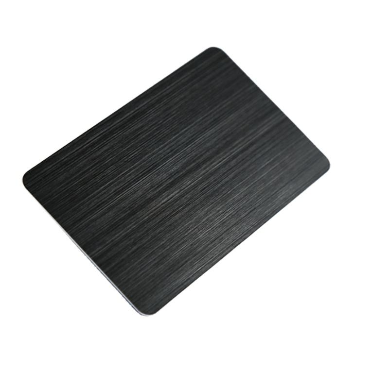 Free Sample Provided Wholesale Black Anodized Aluminum Metal Cards Metal Blank Cards for Laser Engraving and Printing