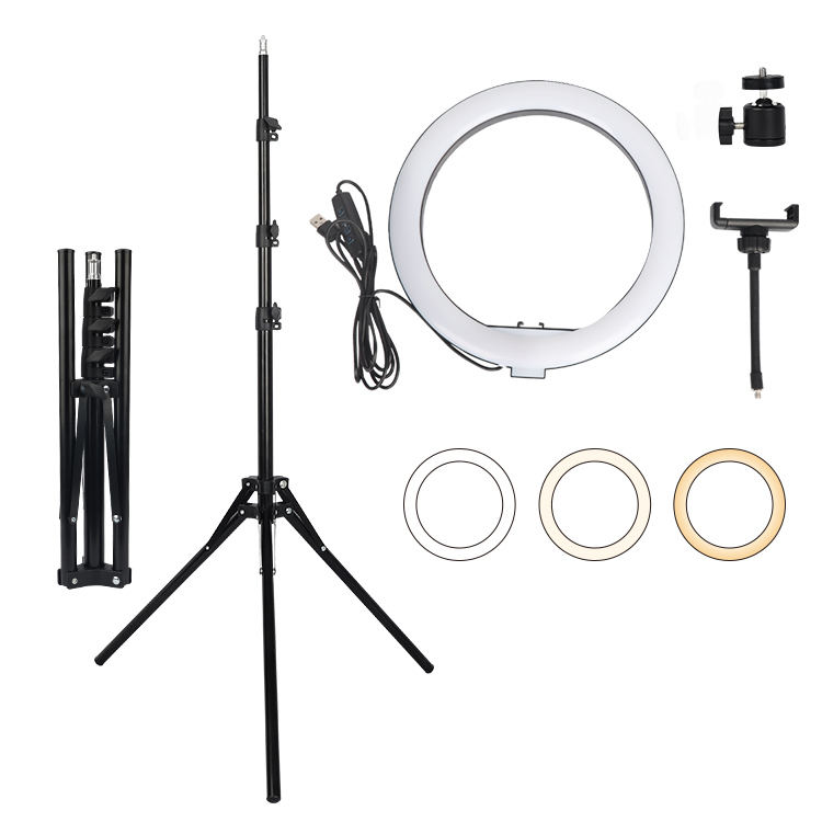 Photography Photo Studio 160Cm Anti Folding Lamp Stand With 10Inch Ringlight