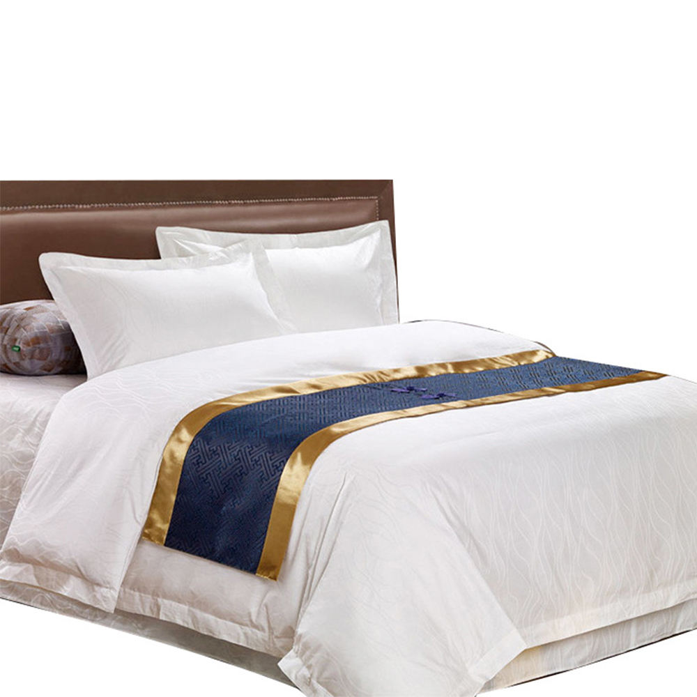 Brand name bed sheet special design 100% cotton sateen hotel bedding set