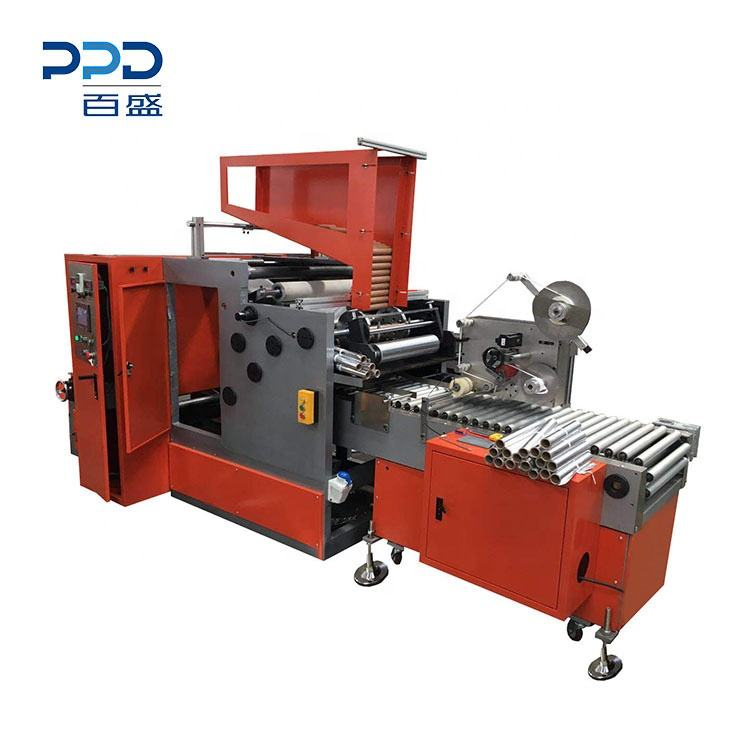 Factory Price Automatic Aluminium Foil Rewinding Machine With Labelling Function
