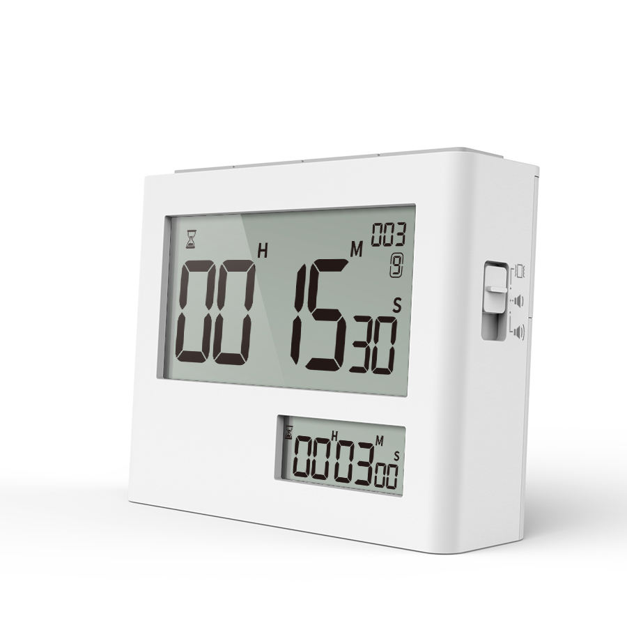 Digital Dual Kitchen Timer, Large Display 99 Hour Dual Count Up Down Timer Dual Channel Timer