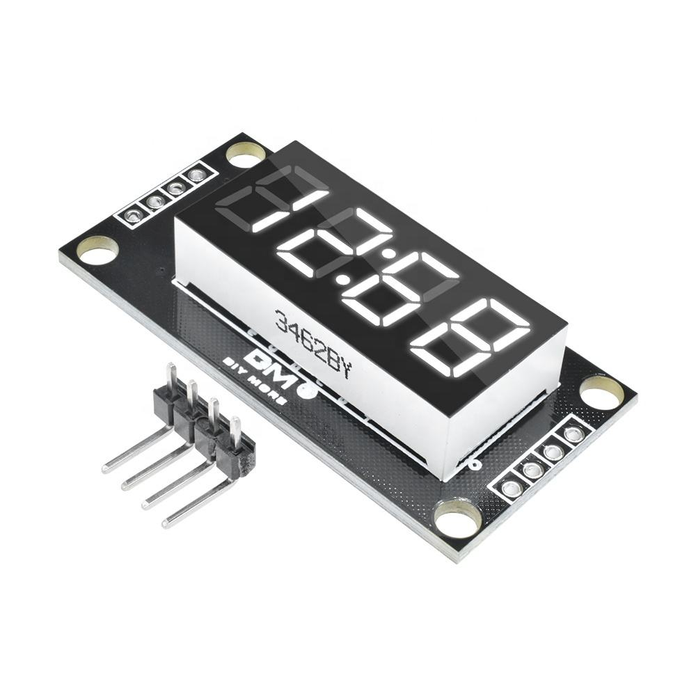 TM1637 4-Digit 0.36 White Digital LED Display Tube Decimal 7 Segments Clock Double Dots Module 0.36 inch For Arduino