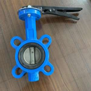 DN150 wafer type hand lever butterfly valve